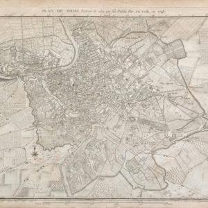 Plan de Rome, Extrait de celui qui fut publié par J.B. Nollin, en 1748 - Lalande Joseph J.