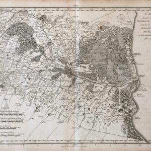 Carte du pais situé entre Bologne et Ferrare tirée de la Corografie du Duché de Ferrare Par Barufaldi, et des environs de Bologne Par Chiesa - Barufaldi Chiesa