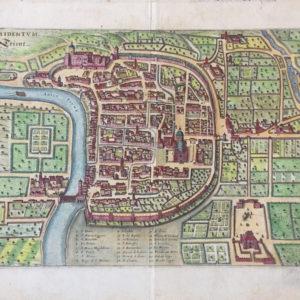 Pianta di Trento – Tridentum Trient - Merian matthaus