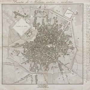 Pianta di Milano Antica e Moderna - Anonimo