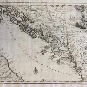 Carta Geografica della Dalmazia - Albrizzi Giambattista
