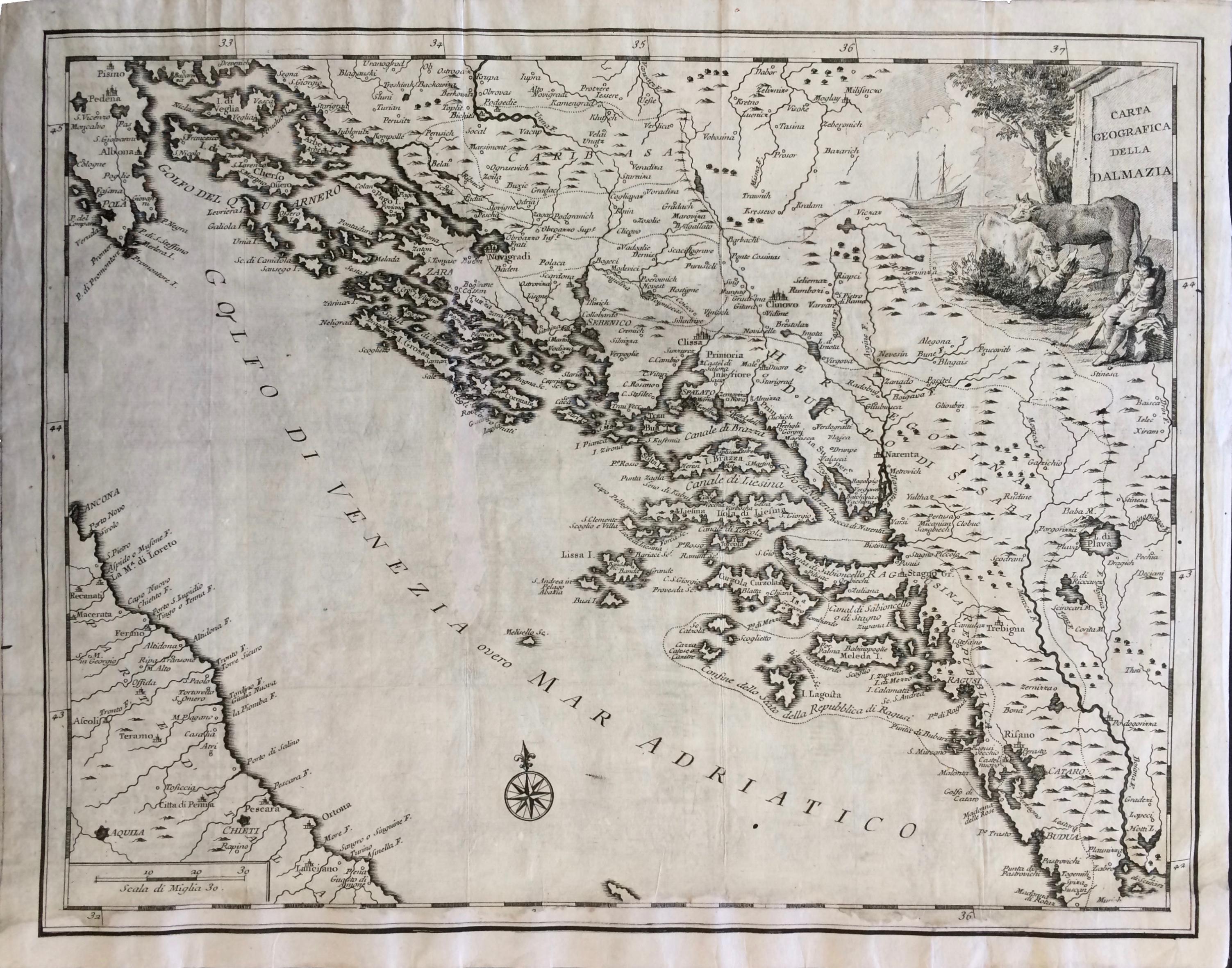 Dalmazia Italiana Cartina.Maps And Masters Carta Geografica Della Dalmazia