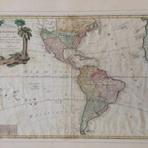 L'Amerique divisée en ses principaux Etats - Santini Remondini