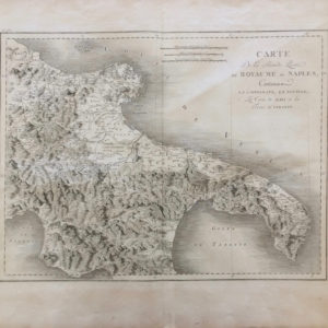 Carte de la seconde partie du Royaume de Naples - Saint Non