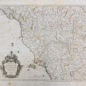 Carte du Grand-Duché de Toscane - Santini Francesco e Paolo