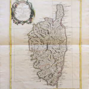 L'isola di Corsica divisa nelle sue provincie - Zatta Antonio