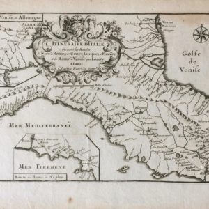 Itineraire d'Italie ou sont les Routes de Nice a Rome, par Genes, Lucquest et Florece; et de Rome a Venise par Lorete - Du Val Pierre