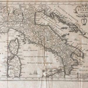 Carte de l'Italie Antique - Van der Aa Pieter