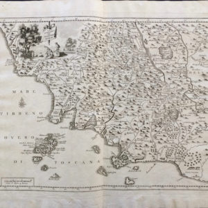 Carta Geografica del Territorio Senese - Salmon Thomas