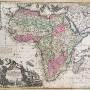 Africa iuxta navigationes et observationes recentissimas aucta correcta et in sua Regna et Status divisa - Seutter Matteus