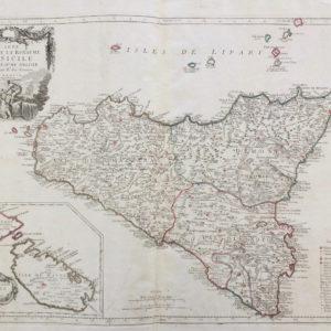 Carte de l'Isle et Royaume de Sicile - Santini Remondini