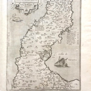 Apuliae Quae olim Iapygia, Nova Corographia - Ortelius
