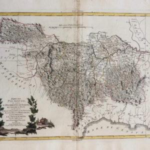 Parte del Piemonte che contiene il Distretto di Torino, le Provincie d'Alba, d'Alessandria e di Tortona, l'Alto e Basso Monferrato, la Lumellina, e il Pavese oltre Po' - Zatta Antonio