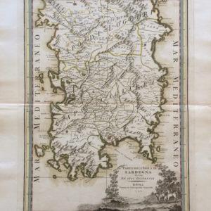 Parte dell'Isola di Sardegna divisa ne' suoi distretti - Cassini Giovanni Maria