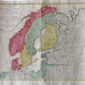 Scandinavia compleetens Sveciae, Daniae et Norvegiae Reg - Homann Heredi
