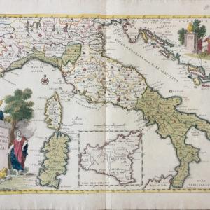 Carta Geografica Generale dell'Italia - Albrizzi Giambattista