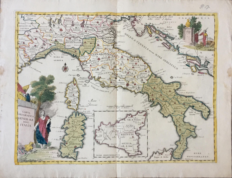 Cartina Geografica Italia Immagini.Maps And Masters Carta Geografica Generale Dell Italia