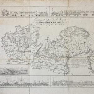 Tracciamento della Strada Ferrata da Venezia a Milano studiato dalla commissione fondatrice Lombardo-Veneta - Barozzi