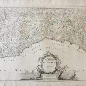 Etats de la seigneurie et république de Gènes dressée sur les meilleures cartes - Santini Remondini