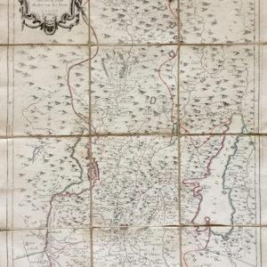 Carte du territoire de Bresce suivant le plan drefsé sur les lieux - Santini Remondini
