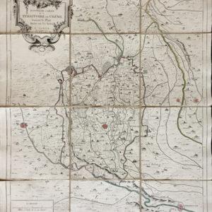 Nouvelle carte du Territoire de Crème suivant le plan drefsé sur les lieux - Santini Remondini