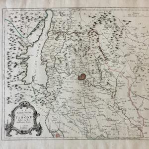 Le territoire de Verone dressé sur les meilleures cartes - Santini Remondini