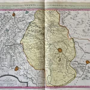 Carte Nouvelle du Territoire de Vicenza - Covens Mortier