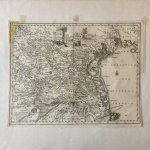 Carta Geografica del Territorio Padovano - Salmon Thomas