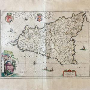 Sicilia Regnum - Blaeu Willem