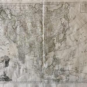 L'Asie divisée en ses principaux Etats - Santini Remondini