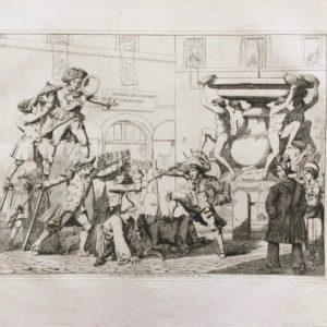 Le maschere in Piazza Tartaruga. Il Carnevale di Roma - Pinelli Achille