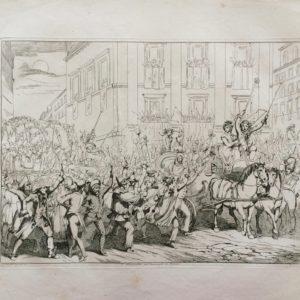 I Moccoletti nel Carnevale di Roma - Pinelli Achille