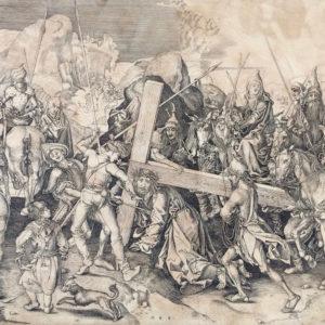 Salita di Cristo al monte Calvario - Anonimo da Martin Shongauer