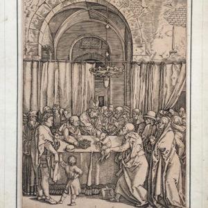 Sommo sacerdote rifiuta il sacrificio di Sant'Anna e San Gioacchino. Vita della Vergine - Raimondi da Dürer Albrecht