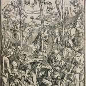 Gesù Cristo crocifisso con i due ladroni - Anonimo da Dürer Albrecht