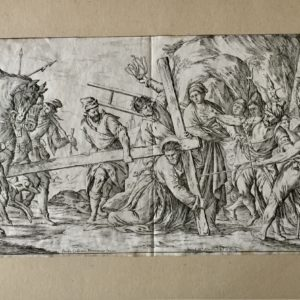 Gesù Cristo cade sotto la croce - Mitelli Giuseppe