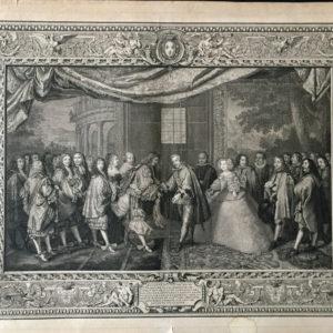 Entrevue de Louis XIV et de Philippe IV d'Espagne dans l'île des Faisans - Jeaurat Etienne