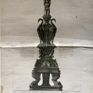 Candelabro antico di marmo - Piranesi Giambattista