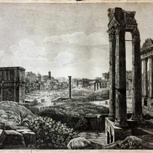 Veduta del Foro Romano - Rossini Luigi