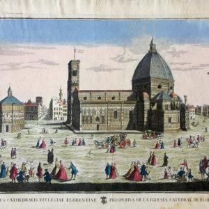 Prospectus Cathedralis Ecclesiae Florentiae. Prospetiva de la Iglesia Catedral de Florencia. - Remondini