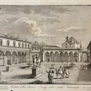 Veduta della Chiesa e Piazza della Santissima Annunziata - Zocchi G. Bernardi