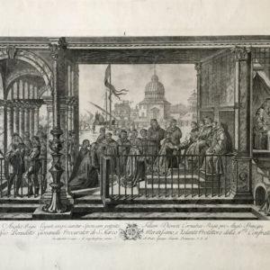 I legati. Veduta di Venezia al Conte Giovannelli - Pian Giovanni de