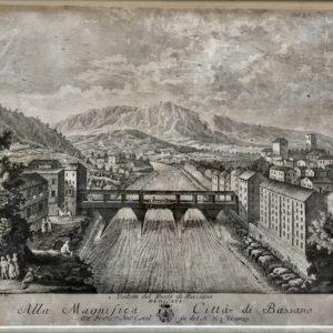 Veduta del Ponte di Bassano dedicata alla Magnifica Città di Bassano - Zuliani GianAntonio