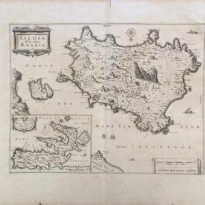 Ischia Isola olim Aenaria (inset map of Elba) - Jodocus Hondius Jansson Jan