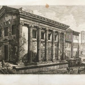 Veduta del Tempio della Fortuna Virile - Rossini Luigi