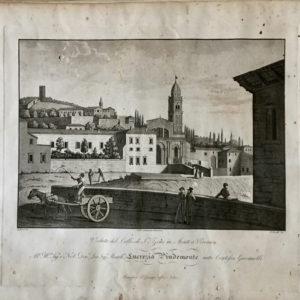 Veduta del Colle di San Zeno in Monte a Verona - Bennassuti
