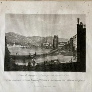 Veduta del Lungadige a S. Eufemia presa sulla Rigasta di S. Lorenzo - Bennassuti
