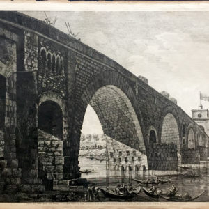 Veduta del Ponte Molle sul Tevere - Rossini Luigi
