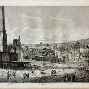 Veduta generale del Monte Quirinale - Rossini Luigi