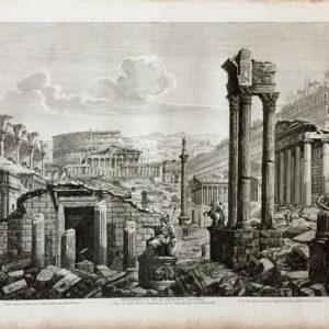 Frontespizio delle antichità romane - Rossini Luigi